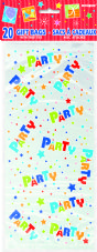 Party Pattern Clear Cello Bags 20pk